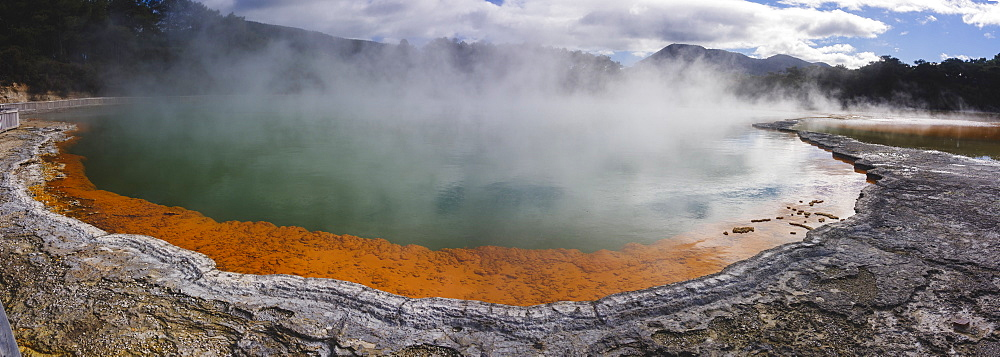 Champagne Pool in the Waiotapu geothermal area in the North Island, New Zealand, Pacific