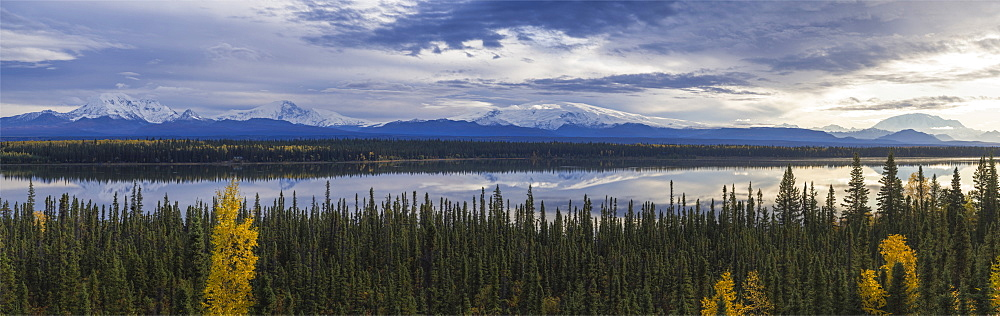 Mount Drum, Sanford, Wrangell, and Blackburn, Wrangell-St. Elias National Park, UNESCO World Heritage Site, Willow Creek, Alaska, United States of America, North America - 1275-13
