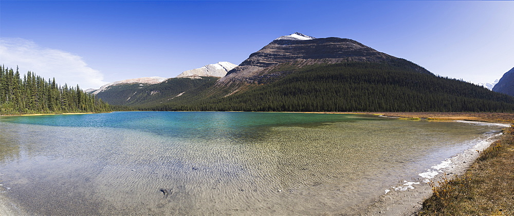 Panorama of the Adolphus Lake in the Mount Robson Provincial Park, UNESCO World Heritage Site, Canadian Rockies, British Columbia, Canada, North America - 1275-44