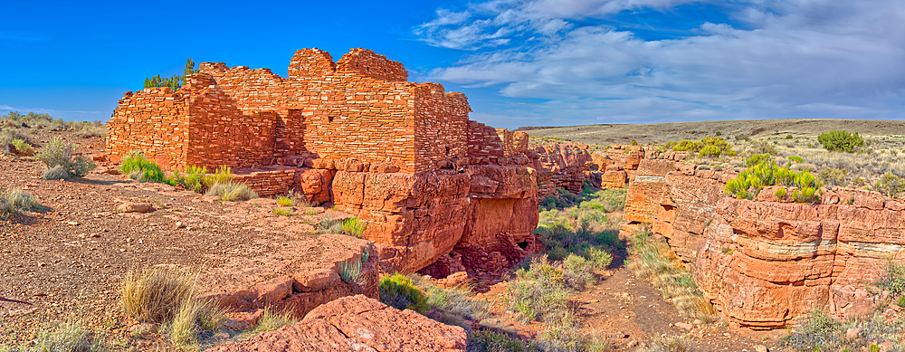Panorama of the Lomaki Pueblo at the Wupatki National Monument in Arizona.
