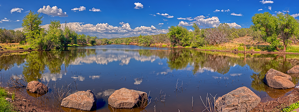 An artificial lake in northern Arizona called Hell's Canyon Tank. Located north of Paulden AZ.