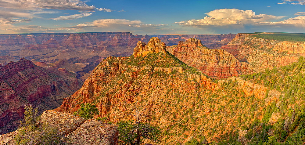 Panorama of the Sinking Ship and Coronado Butte on the south rim of the Grand Canyon, Grand Canyon National Park, UNESCO World Heritage Site, Arizona, United States of America, North America - 1311-158
