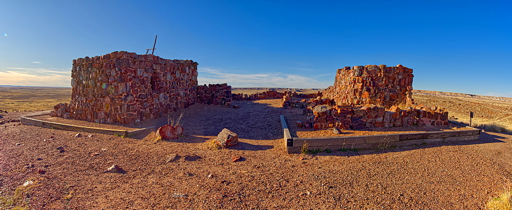 An Indian dwelling in Petrified Forest National Park called the Agate House, built between 1030AD and 1300AD, Arizona, United States of America, North America - 1311-192