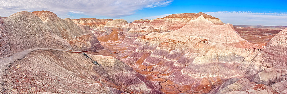 View from the Blue Mesa Trail in Petrified Forest National Park, Arizona, United States of America, North America - 1311-215