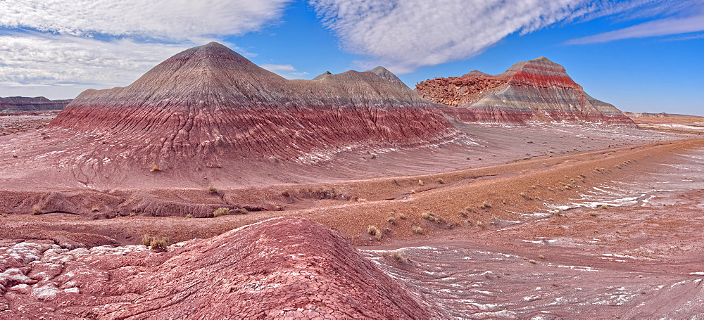 Hills of Bentonite Clay called Teepees at the start of the Blue Forest Trail in Petrified Forest National Park, Arizona, United States of America, North America - 1311-220