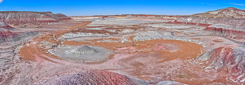 Salt covered hills of Bentonite in the Petrified Forest National Park along the Blue Forest Trail, Arizona, United States of America, North America - 1311-222