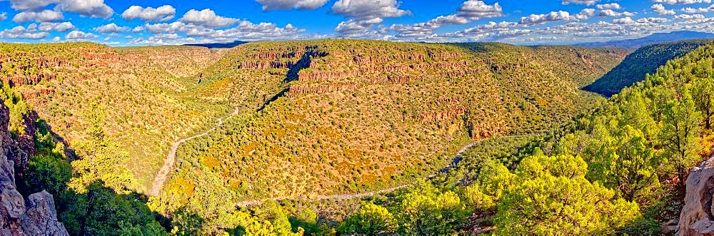 Panorama of Upper Bear Canyon near Drake Arizona in the Prescott National Forest. - 1311-264