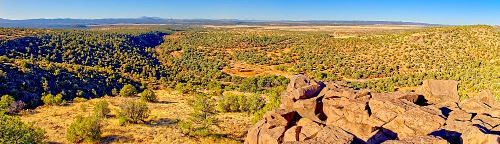 Prescott National Forest panorama viewed from a cliff on the edge of MC Canyon near Drake Arizona. - 1311-266