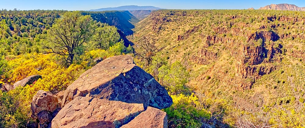 Panorama of Rattlesnake Canyon southeast of Sedona in the Wet Beaver Wilderness of Arizona. - 1311-267