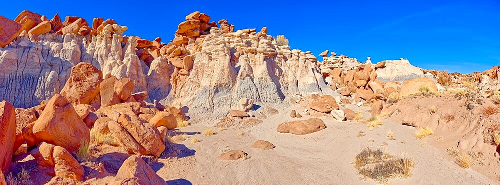 A ridge in the Devil's Playground of crumbling hoodoos that resemble Goblins, Petrified Forest National Park, Arizona, United States of America, North America - 1311-294