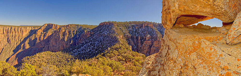 Panorama view from the Starboard Aft side of the Sinking Ship formation in the Grand Canyon National Park Arizona. - 1311-305