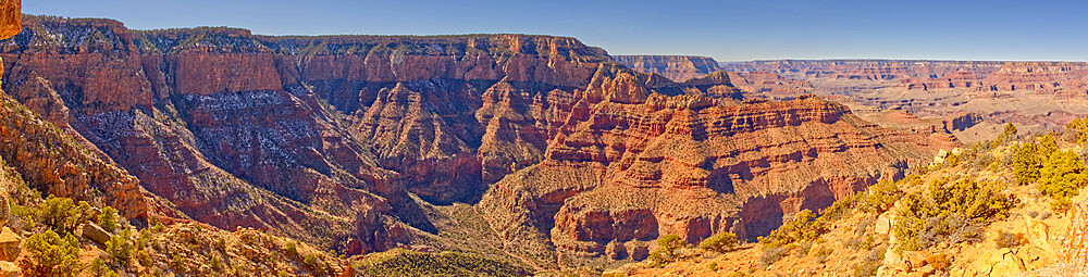 Grandview Point viewed from the port bow of the formation called Sinking Ship in Grand Canyon Arizona. - 1311-308