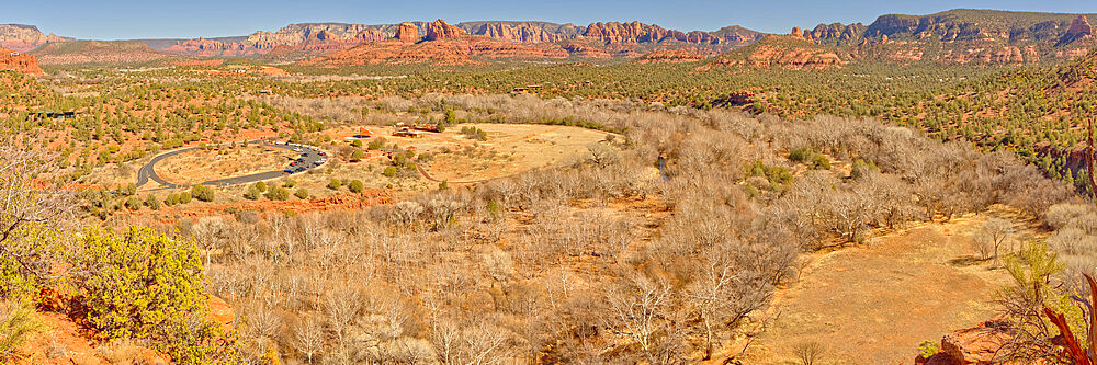 Red Rock State Park Sedona Arizona viewed from the Eagle Nest Trail Overlook. - 1311-313