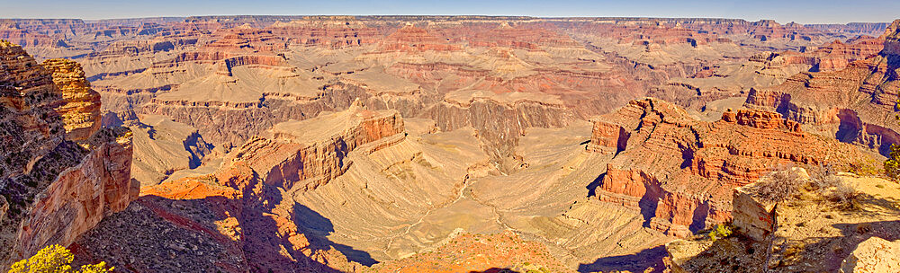 Panorama of Grand Canyon Arizona viewed from Powell Point along the Hermit Road. - 1311-317