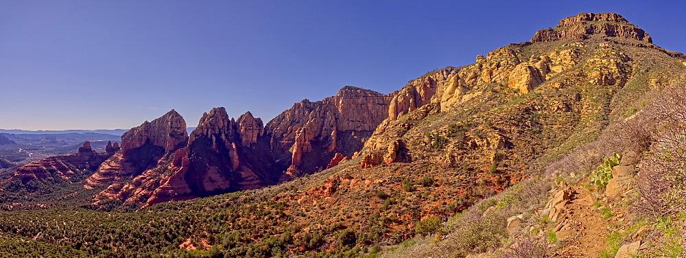 Panorama of Wilson Mountain and Wilson Canyon in Sedona, Arizona, United States of America, North America