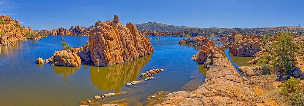 Panorama of Rock islands in Watson Lake viewed from the North Shore Trail, Prescott, Arizona, United States of America, North America
