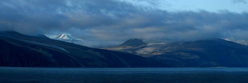 Glacier carved mountain range