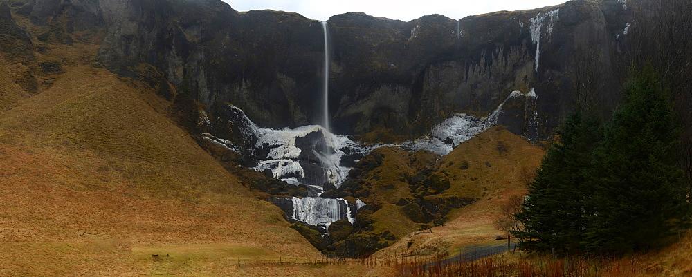 Panorama of waterfall