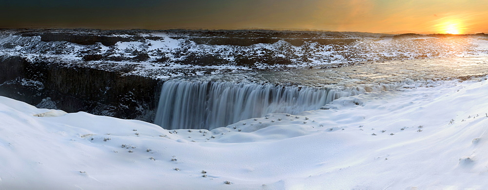 Panorama image of Detifoss, Iceland, Polar Regions