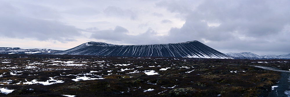 Panorama image of Hverfjall crater