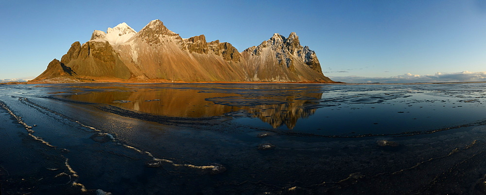 Vestrahorn mountain with reflection