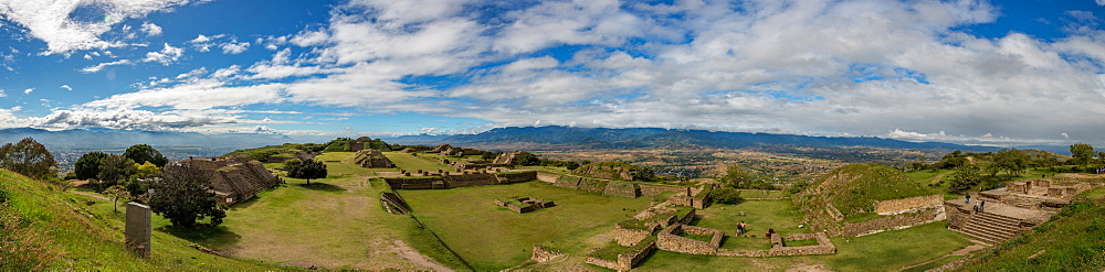 Panorama of Monte Alban, UNESCO World Heritage Site, Oaxaca, Mexico, North America