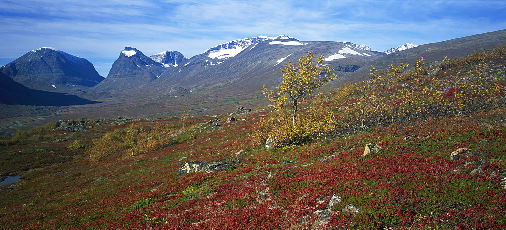Mount Kebnekaise, Sweden's highest mountain, 2117m, Laponia, Lappland, Sweden, Scandinavia, Europe