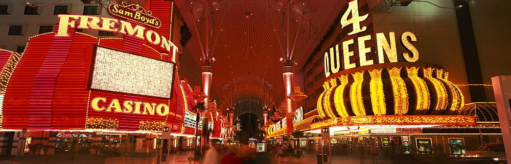 Fremont Street, Downtown, Las Vegas, Nevada, United States of America, North America