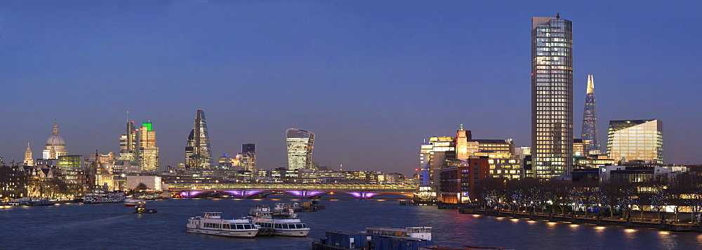 City and Blackfriars panorama with The Shard, London, England, United Kingdom, Europe - 367-6093