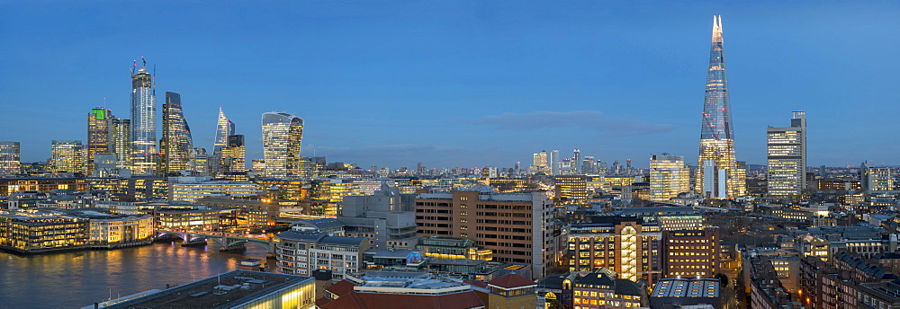 Panorama of the City of London and The Shard, London, England, United Kingdom, Europe - 367-6229