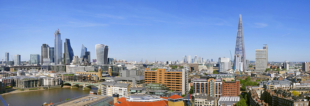 City of London panorama and The Shard, London, England, United Kingdom, Europe - 367-6244
