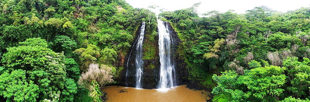 Opaekaa Falls, Wailua River, Kauai Island, Hawaii, United States of America, North America