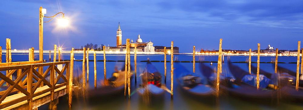San Giorgio Maggiore in the distance, Venice, UNESCO World Heritage Site, Veneto, Italy, Europe
