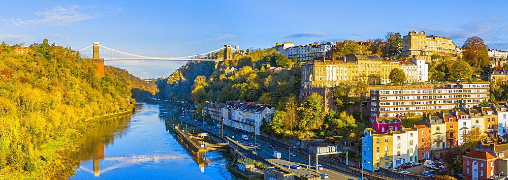 The Avon Gorge, Clifton Suspension Bridge, Clifton, and Hotwells, Bristol, England, United Kingdom, Europe