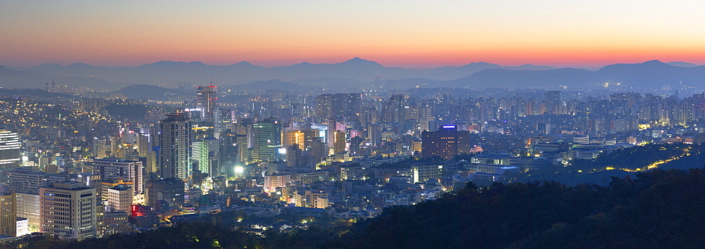 View of Seoul at dawn, Seoul, South Korea, Asia - 800-3851