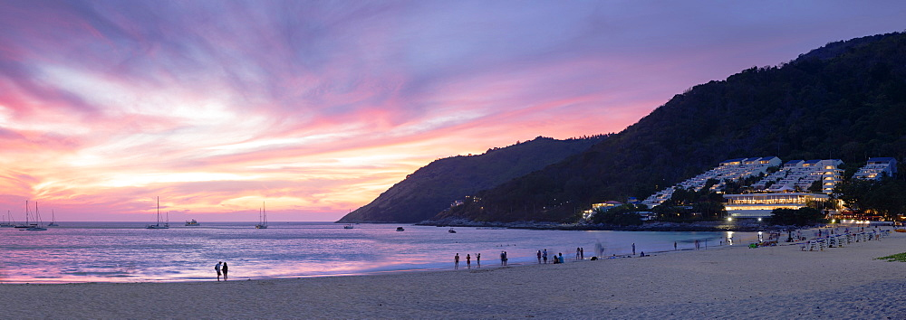 Hai Nan Beach at sunset, Phuket, Thailand, Southeast Asia, Asia - 800-3963