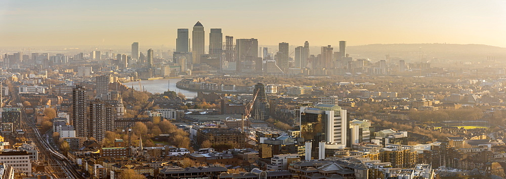 Canary Wharf skyline, Docklands, London, England, United Kingdom, Europe - 828-1133