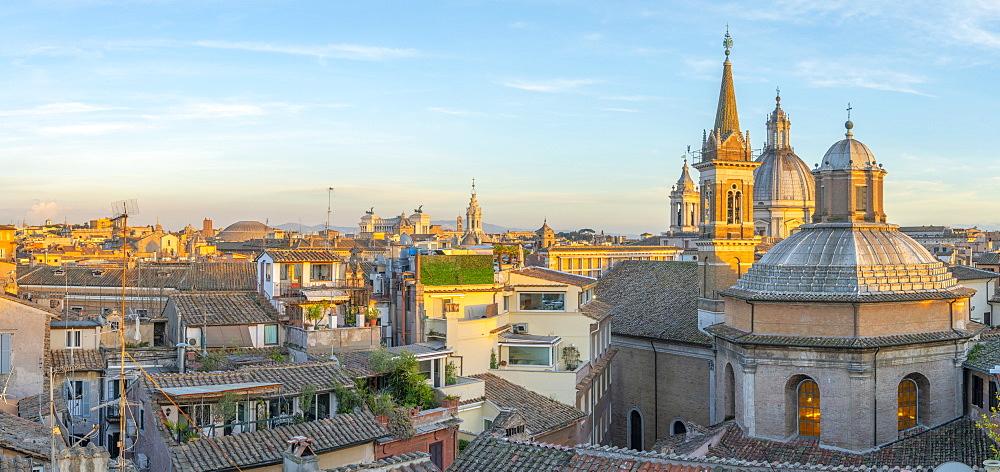 Chiesa di Santa Maria della Pace in foreground, Sant'Agnese in Agone beyond, Ponte, Rome, Lazio, Italy, Europe