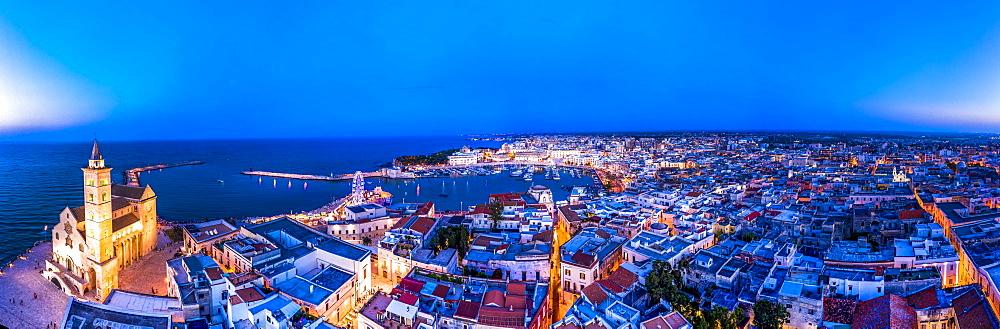 Aerial view, Trani, Apulia, Southern Italy, Italy, Europe