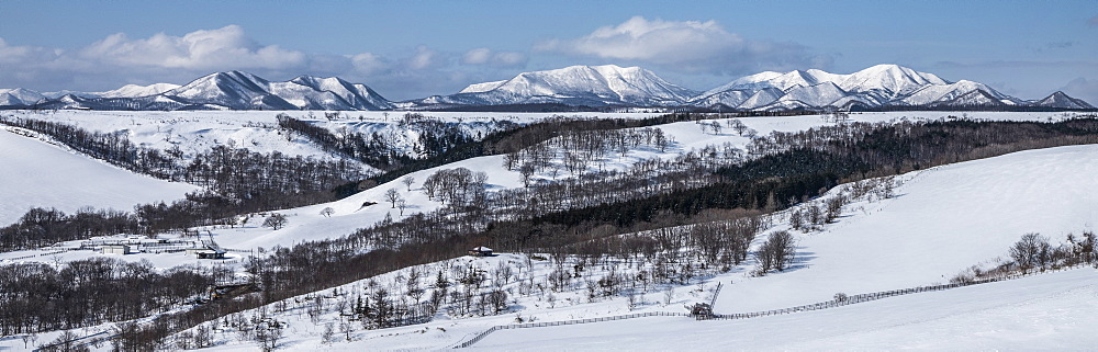 Mountain panorama, Hokkaido, Japan, Asia