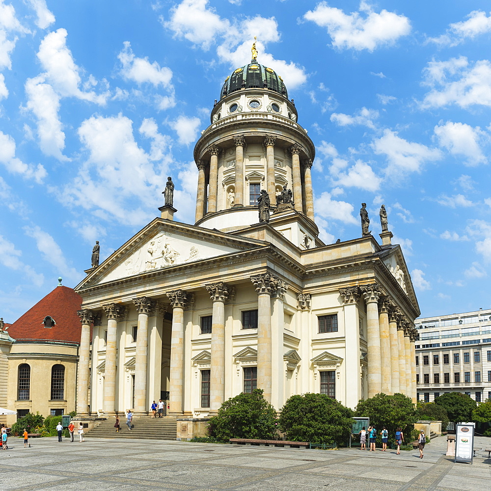 French Cathedral, Gendarmenmarkt Square, Berlin, Brandenburg, Germany, Europe