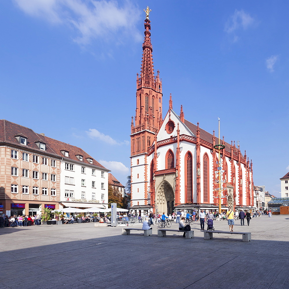 Marienkapelle chapel, market square, Wurzburg, Franconia, Bavaria, Germany, Europe