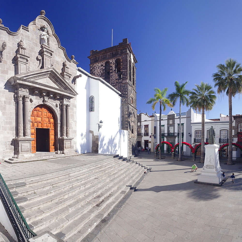 Iglesia de El Salvador church at Plaza de Espana, Santa Cruz de la Palma, La Palma, Canary Islands, Spain, Europe