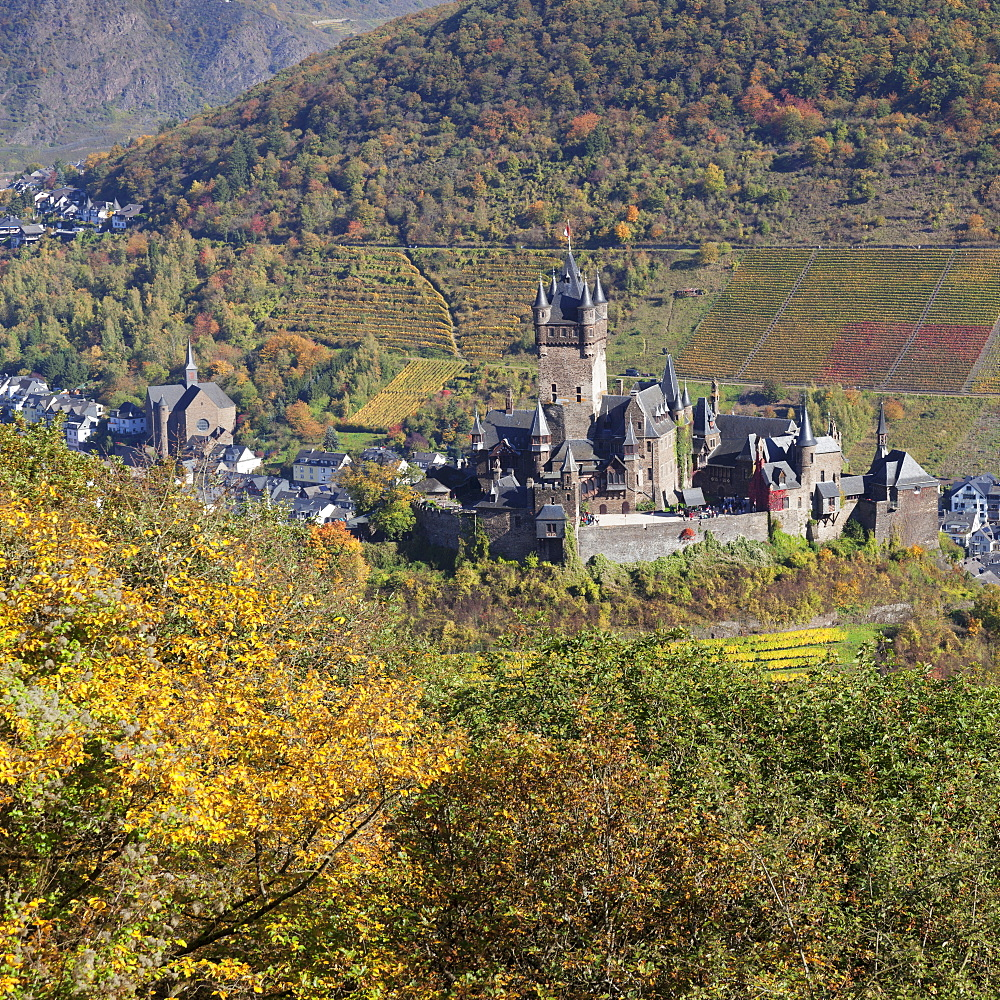 Reichsburg Castle, Cochem, Moselle Valley, Rhineland-Palatinate, Germany, Europe - 1160-3823