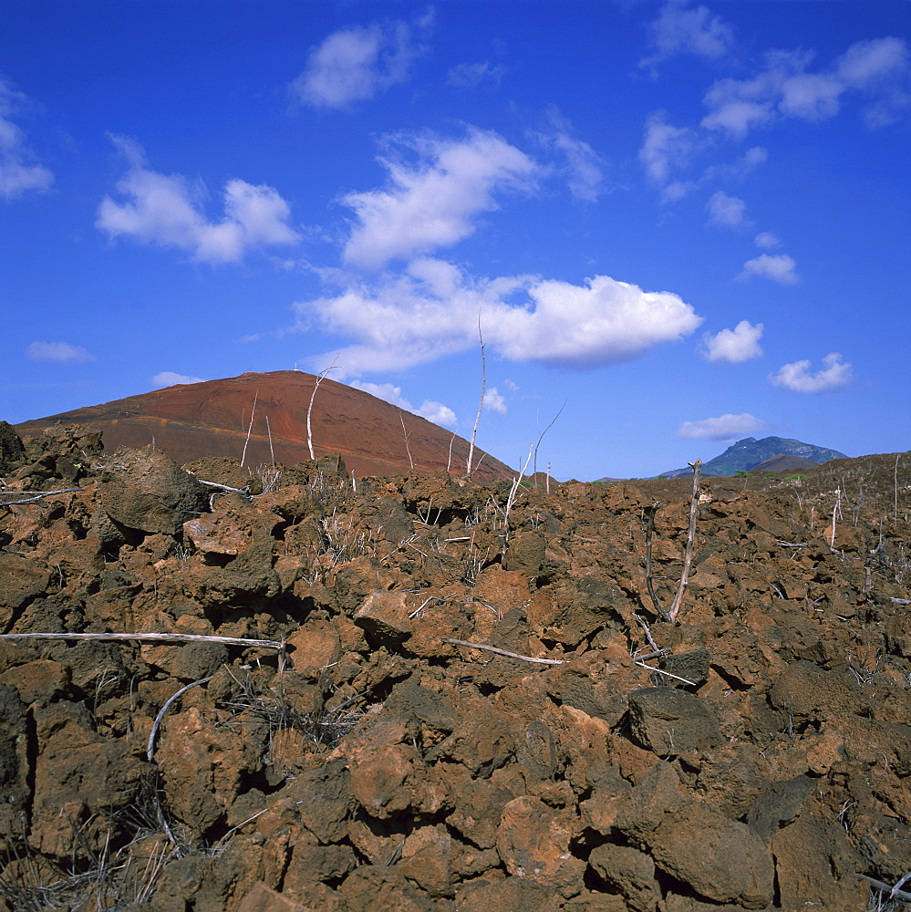Rocks in a volcanic landscape on Ascension Island, mid Atlantic