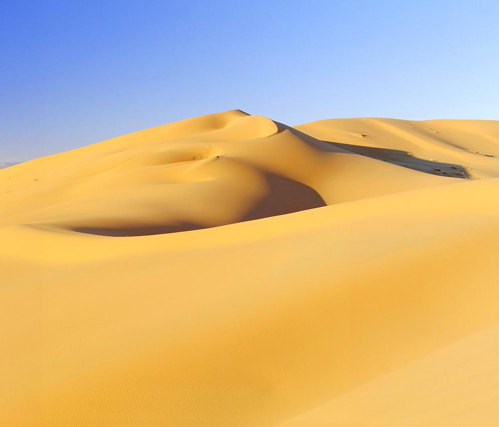 Erg Chebbi, sand dunes in the Sahara Desert near Merzouga (Erfoud), Morocco