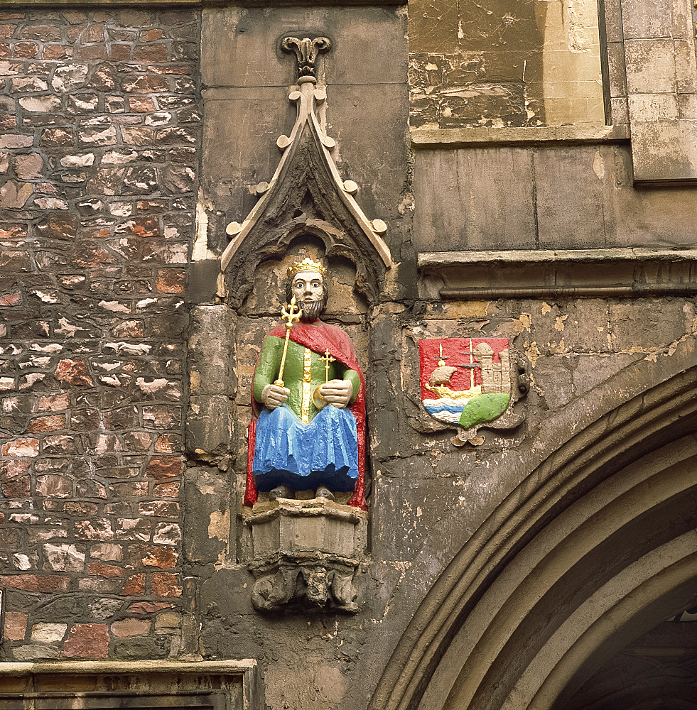 Detail, St. John's Gate, Bristol, Avon, England, United Kingdom, Europe