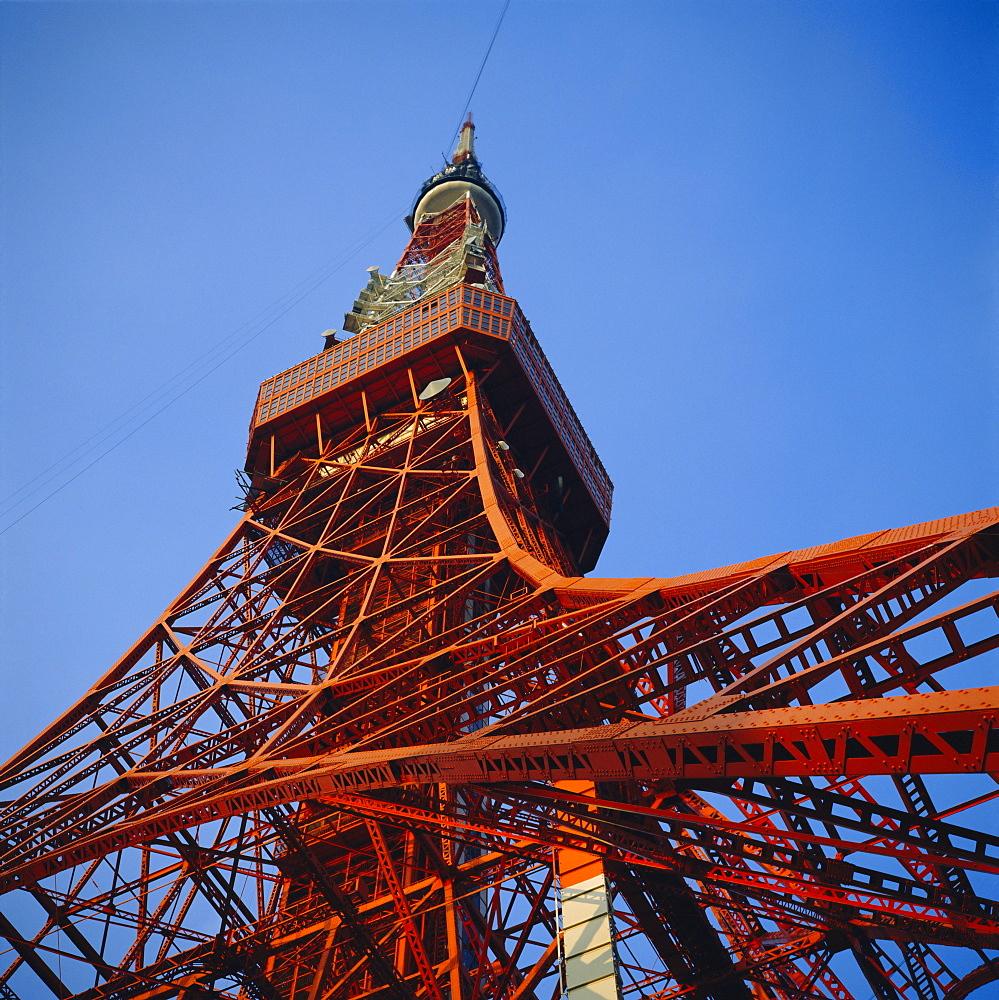 Tokyo Tower, 330m broadcsting tower with viewing platforms, Roppongi, Tokyo, Japan