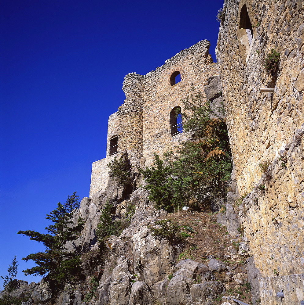 Byzantine watchtower rebuilt as a castle by Lusignans in the 12th century, Buffavento, Northern Cyprus, Cyprus, Europe - 391-7207
