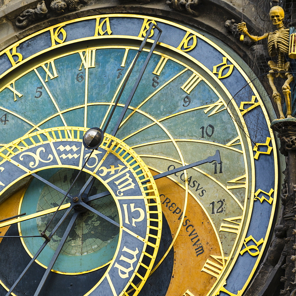 Astronomical Clock, Old Town Hall, Prague, UNESCO World Heritage Site, Czech Republic, Europe - 808-1533